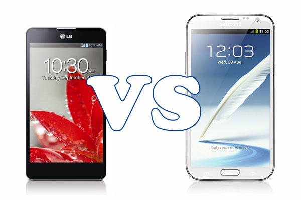 A comparison between the LG Optimus G and the Samsung Galaxy Note 2