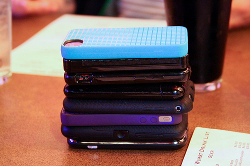 Stuck To Your Device? Phone Stacking Re-arranges Device Etiquette