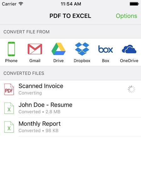 pdf to excel app
